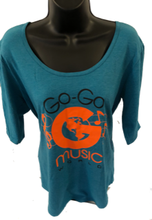 WOMEN 1/2 SLEEVE SCOOP T-SHIRT TURQUOISE