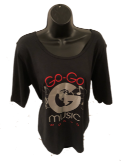 WOMEN 1/2 SLEEVE SCOOP T-SHIRT BLACK